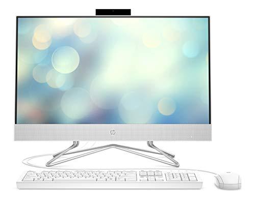 HP 24-df0012ng (23,8 Zoll / FHD) All-in-One (Intel Core i5-1035G1, 8GB DDR4 RAM, 1TB SSD, Intel UHD Grafik, DVD-Writer, Windows 10) weiß