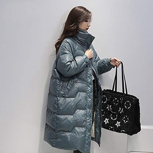 WEIYYY Chaqueta de plumón Larga sólida con Cuello Alto de Invierno Abrigo de 90% plumón para Mujer a de plumón Amarillo Prendas de Abrigo de Nieve cálidas y Gruesas Azules, Azul Cielo, S