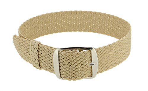 Minott Cinturino Regolabile | ricambio nastro beige intrecciato | Perlon...