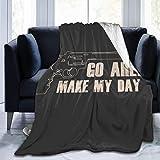 Nat Abra Súbita Imp-Act Clint Eastwood Cita de la película Fleece Flannel Throw Blanket Manta Ligera, Ultra Suave y cálida para la Cama Sofá Adecuado