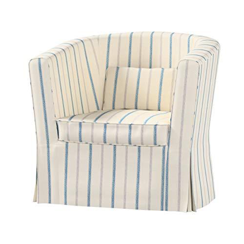 Dekoria Ektorp Tullsta Sesselbezug Sofahusse passend für IKEA Modell Ektorp Creme- blau
