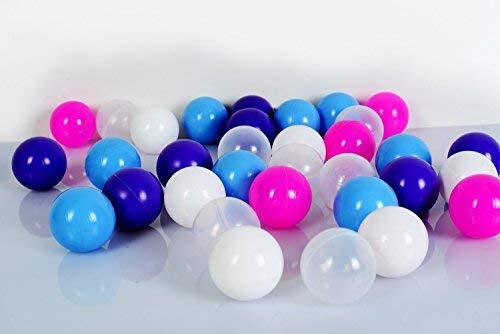Koenig-Tom Juego de 100 Bolas para Piscina de Bolas de 6 cm, para niñas en guardería y Calidad Comercial, Bolas de plástico sin plastificantes