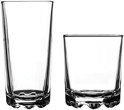 Ravenhead 12-Piece Essential Glassware Hobnobs Drinking Glass Set, Clear