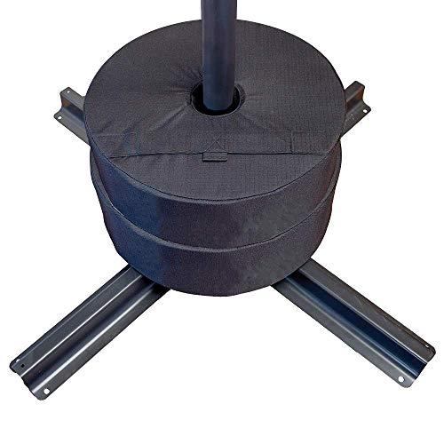 2St Runder Sandsack Winddicht Wasserdicht Hochleistungs Befestigungsteile Kompaktes Basisset Für Außenunterkünfte Pavillonzelt Werbung Markise (Ohne Sand)