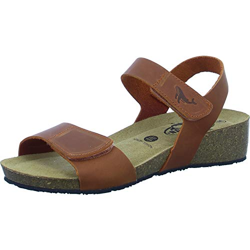 PLAKTON 775893 Damen Sandale Größe 39 EU Braun (braun)