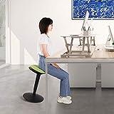 Sanodesk Ergonomie Wobble Hocker Arbeitshocker Bürohocker Ergonomischer Sitzhocker Drehhocker höhenverstellbar 59-80cm (Grün) - 2