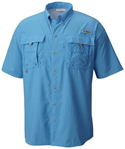 Columbia Men's PFG Bahama II Short Sleeve Shirt, Yacht, X-Large