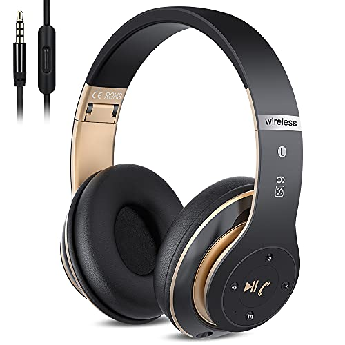 6S Wireless Bluetooth Headphones Over Ear, Hi-Fi Stereo Foldable Wireless Stereo Headsets Earbuds...