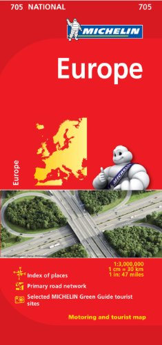 Price comparison product image Michelin Europe Map 705 (Maps / Country (Michelin))