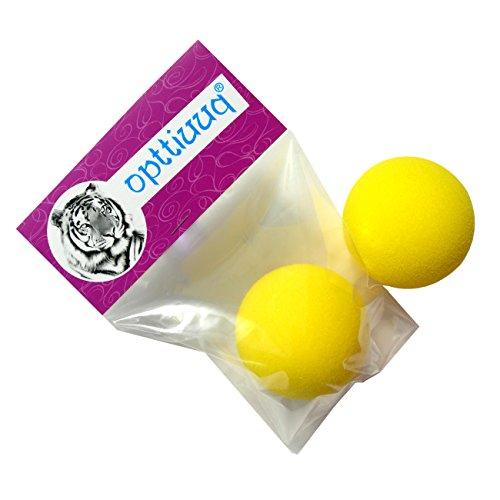 Opttiuuq Pack of 2 x 7cm Safety Foam tennis/cricket/play ball (KIDS SPONGE). Random colour. Multipacks (1)