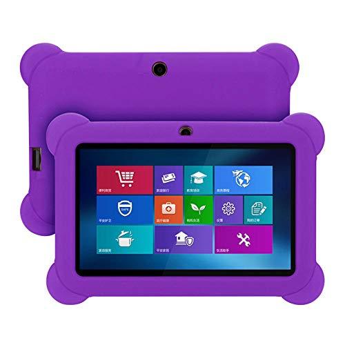 Funda para niños Shockprrof para Tableta Android de 7 Pulgadas Funda Protectora de Gel de Silicona para Q88 para Yuntab 7 Pulgadas a23 A33 Funda A4-Púrpura