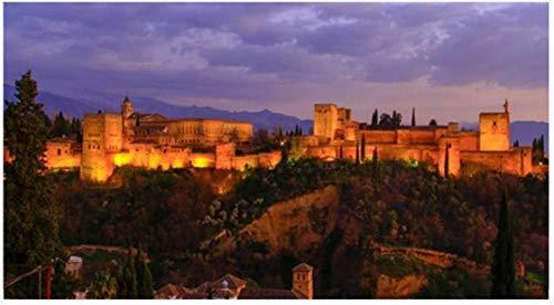 NOBRAND Rompecabezas Rompecabezas De 1000 Piezas Granada España. La Belleza De La Alhambra con Las Montañas De Sierra Nevada para Niños Adultos