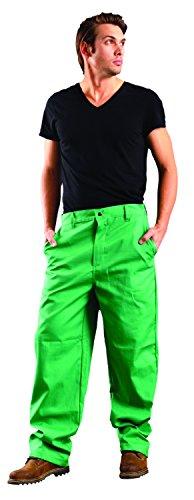 "Occunomix MIG201V-36 MigWear Value Welding Pant, Size 36, 32"" Length, FR Cotton, Green"