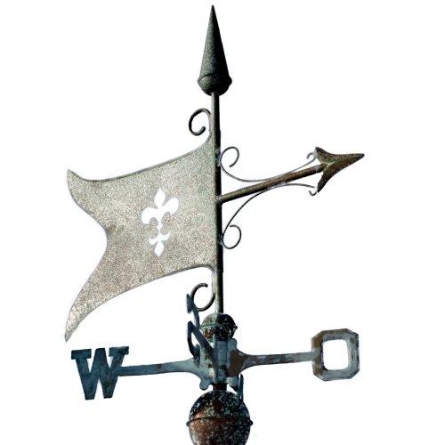 Wetterfahne Banner mit Lilienmotiv antik