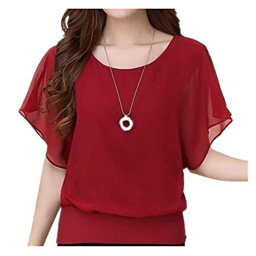 Verano de las Mujeres Camisa de Manga Corta Camisa Elegante Delgada Oficina de las Mujeres Blusa Streetwear Señoras Tops - - XX-Large