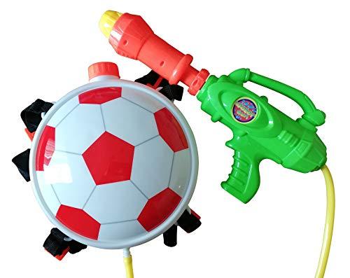 Wasserpistole-n S35, Kinder-Spielzeug Spritz-Pistole Fussball-Rucksack Rücken-Tank Wasser-Spritze Super-Soaker Spielzeug-Gewehr Pump-Gun Geschenk-Idee Geburtstag-e