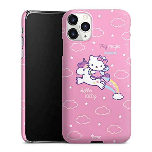 DeinDesign Premium Hülle kompatibel mit Apple iPhone 11 Pro Max Smartphone Handyhülle Hülle matt Hello Kitty Offizielles Lizenzprodukt Einhorn