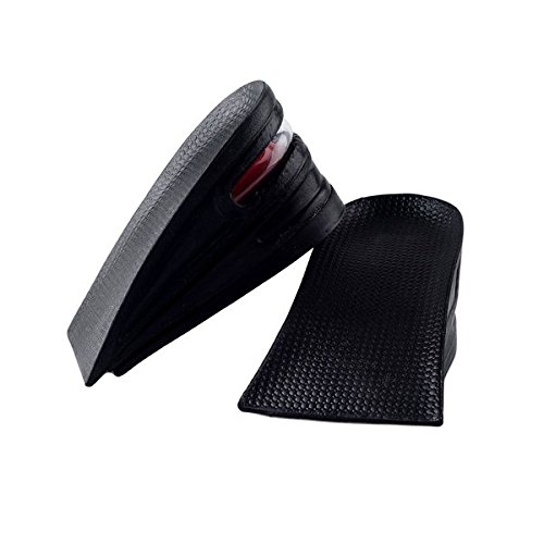 SINY® 3-Layer Shoe Insoles Height Increase Taller Pad Air Cushion for Men Women Black 6cm 2.5 inches