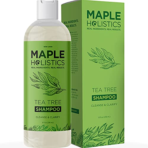 Tea Tree Oil Shampoo Sulfate Free - Cleansing Tea Tree Shampoo Scalp Exfoliator and Dry Scalp...