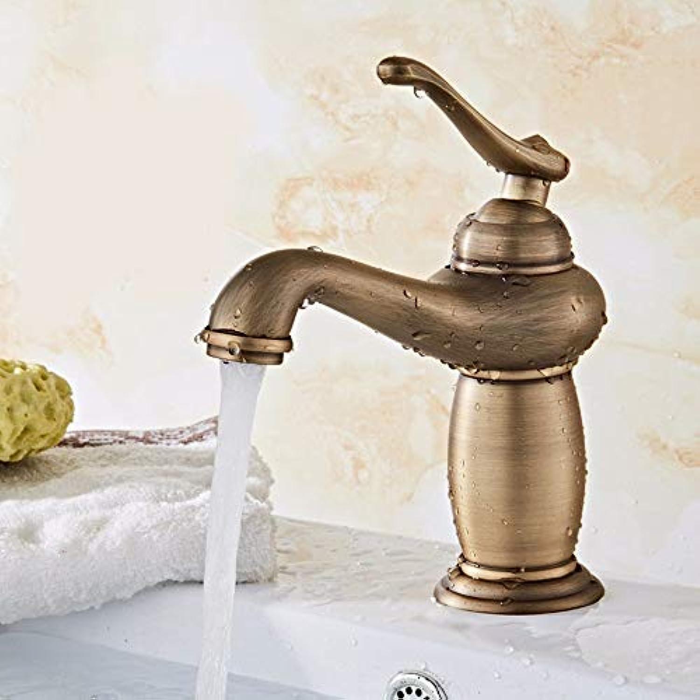 Ywqwdae Kupferbad im europischen Stil im Retro-Stil. Warm und kalt. Waschen Sie Ihr Gesicht