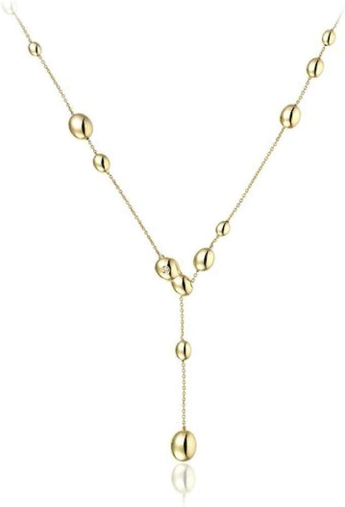Chimento,collana per donna,in oro giallo 18 k (7,5 gr),con chiusura da 1 diamante 0,01 ct