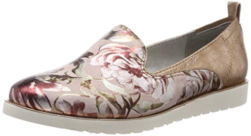 Jana 8-8-24610-22, Mocassins (Loafers) Femme, Rouge (Rose Comb. 502), 41 EU