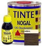 Promade - Tinte al disolvente para teñir la madera. Tonos de madera y colores vivos y modernos (375 ml, Nogal)