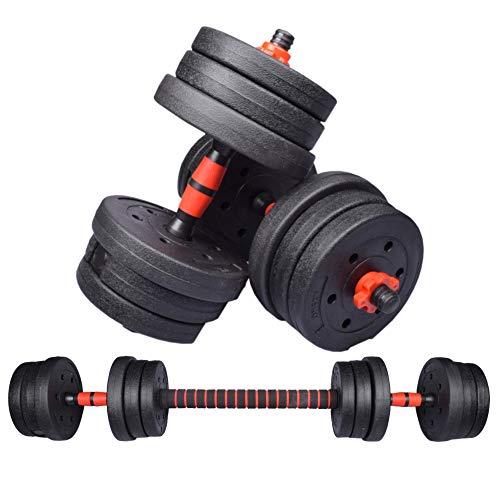 Exersci Multifunctional Adjustable Dumbbell, Barbell Weight Lifting Set 20kg/30kg (20)