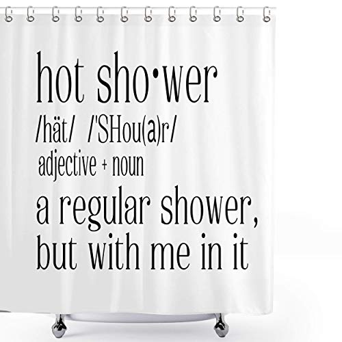 GleeFeel Hot Shower Definition Custom Curtain, personalisierter Duschvorhang, individuelles Bild, Custom Hintergrund, Custom Foto (Stil 1, 66 x 72)
