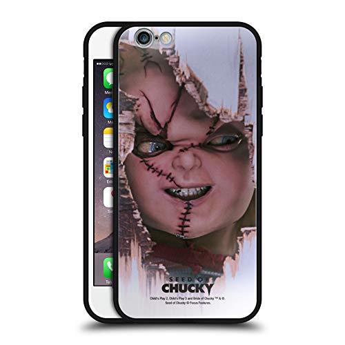 Head Case Designs Ufficiale Seed of Chucky Scarface Arte Chiave Cover Nera Ibrida in Vetro per Parte Posteriore Compatibile con Apple iPhone 6 / iPhone 6s
