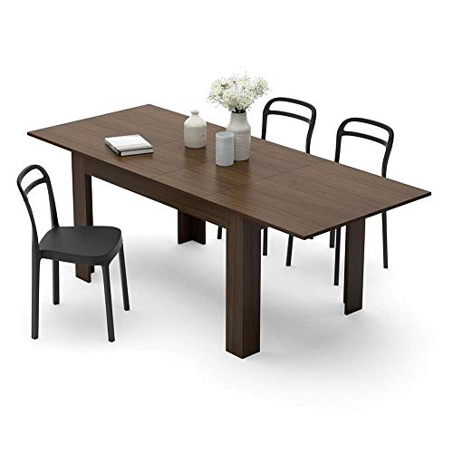 Mobili Fiver, Mesa de Cocina Extensible, Modelo Easy, Color Nogal Americano, 140 x 90 x 77 cm