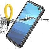 BasicStock Coque Étanche Samsung Galaxy S10 Plus, IP68 Agréé 360° Protection Antichoc Waterproof Case Housse avec Protecteur d'écran pour Samsung Galaxy S10+ (Noir (Sangle Flottante))