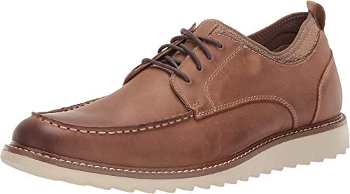 Dockers Mens Faraday Leather Smart Series Dress Casual Oxford Shoe, Walnut, 9 M
