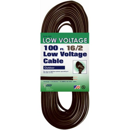 Coleman Cable 095021008 16/2 Low Voltage Lighting Cable, 100-Feet