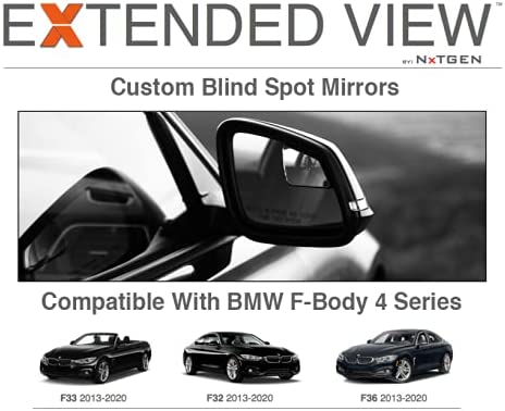 Blind Spot Mirrors- Compatible with Same day shipping BMW Extended Quality inspection Vi F33 4 Series