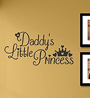 Daddy's Little Princess Vinyl Wall Decals Quotes Sayings Words Art Decor Lettering Vinyl Wall Art Inspirational Uplifting