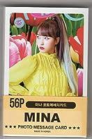 TWICE (トゥワイス) MINA ミナ ミニフォトメッセージカード MINI PHOTO MESSAGE CARD 56枚セット(画像変更あり)韓国 ap03