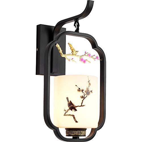 Modernos Bañadores de Pared Interior Retro chino apliques de pared de metal Loft Lámpara aplique de la luz LED de la noche for la casa, bar, restaurantes, Pasillo, Cafetería [Clase energética A +++]