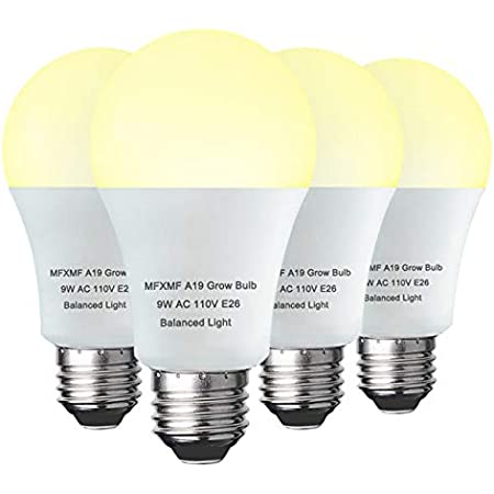 Two A19 E23 6 Watt 120V LED Grow Light Bulb Full Spectrum