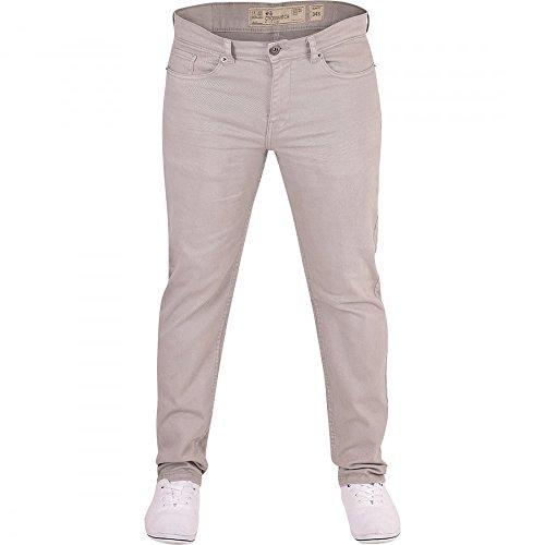 Crosshatch Herren-Jeans, strapazierfähig, schmale Passform, Denim, Chino-Hose Gr. 32W x 32L, Hellgrau