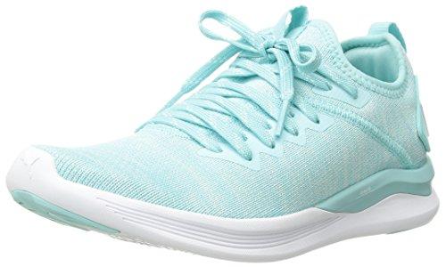 PUMA Women's Ignite Flash Evoknit Wn Sneaker, Island Paradise-Whisper White White, 9.5 M US