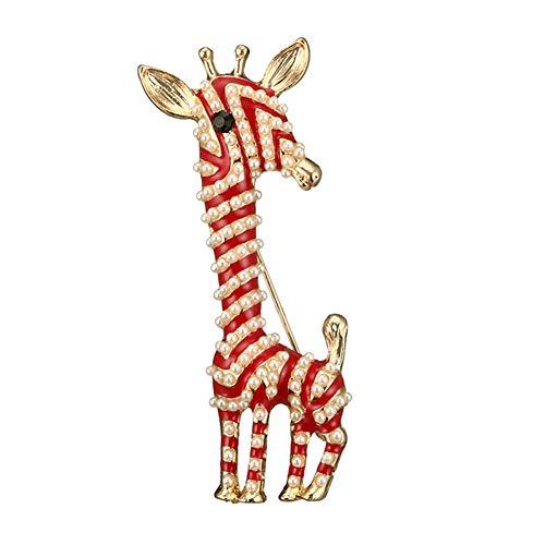 Bangle009 Süße Damen-Brosche aus Emaille, Kunstperlen, Giraffen-Brosche, Anstecknadel, Anstecknadel, Abzeichen, Hochzeit, Party,