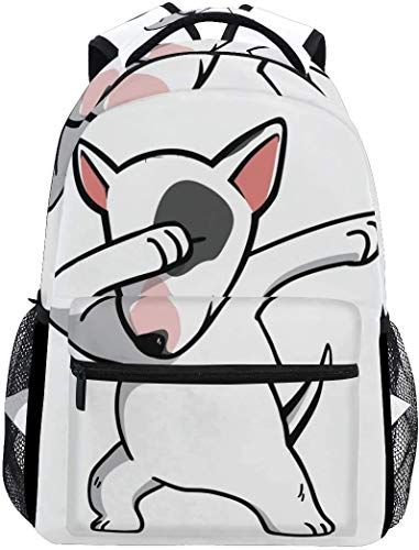 Tactical Backpack For Men Funny English Bull Terrier Casual Bookbag Daypack Laptop Teen Girls Boys School Bag