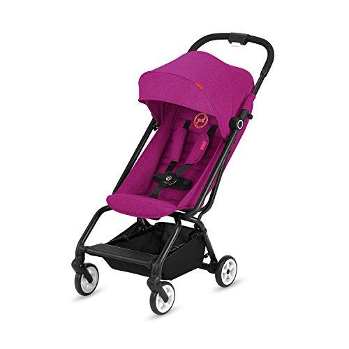 CYBEX Gold Buggy Eezy S, Einhand-Faltmechanismus, Ultrakompakt, Leichtgewicht, Ab ca. 6 Monaten bis 17 kg (ca. 4 Jahre), Passion Pink