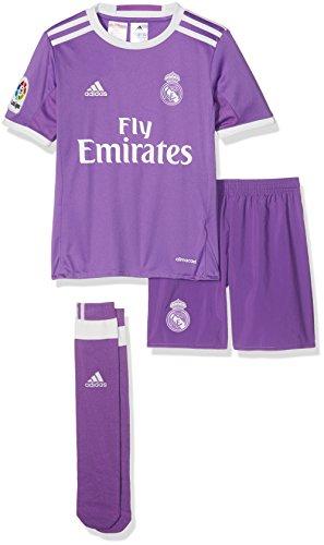 adidas Kinder Real Madrid Mini-Auswärtsausrüstung Fußballdress, Black/White, 98