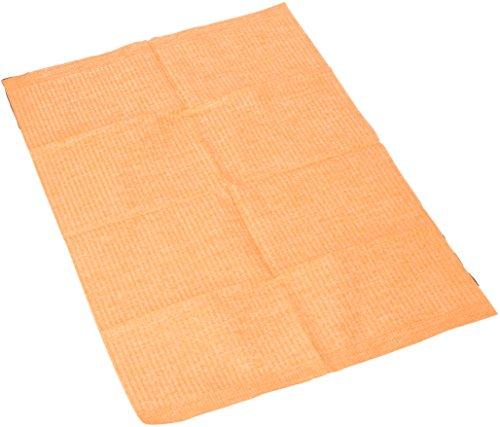 Opgevouwen servet, 45 cm lengte, 33 cm breedte, oranje (Pak van 500)