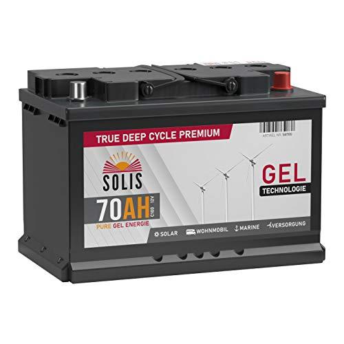 SOLIS Gel Batterie 70AH 12V Solar Boot Wohnmobil Schiff Versorgungs Mover Akku (70AH 12V)