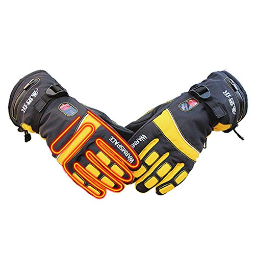 Verwarmde handschoenen elektrische handwarmer oplaadbare Li-ion batterij tot 6 uur, warm sneeuw winter outdoor, fietsen, motorfiets, wandelen, snowboarden, mannen vrouwen