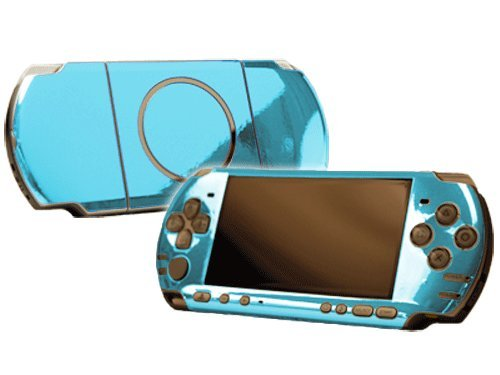 Sky Chrome Mirror Vinyl Decal Faceplate Mod Skin Kit for Sony PlayStation Portable 3000 Console by System Skins