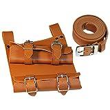 HappyStory Knight Belt PU Leather Medieval Renaissance Girdle Viking Knight Belt (Brown2)